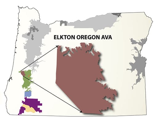Elkton AVA Map