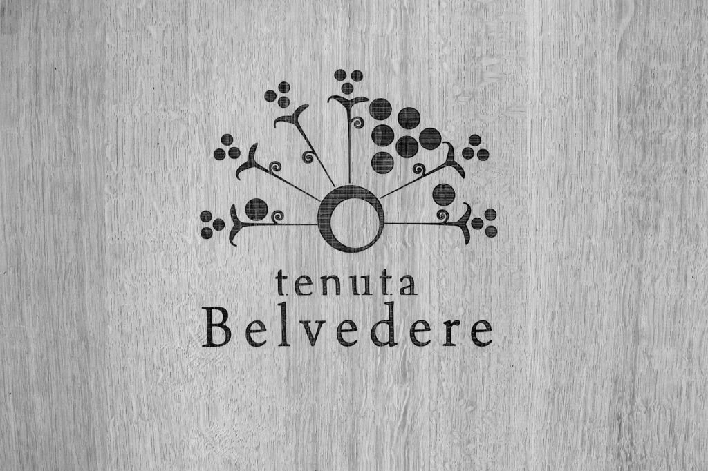 belvedere logo printed on oak barrelas