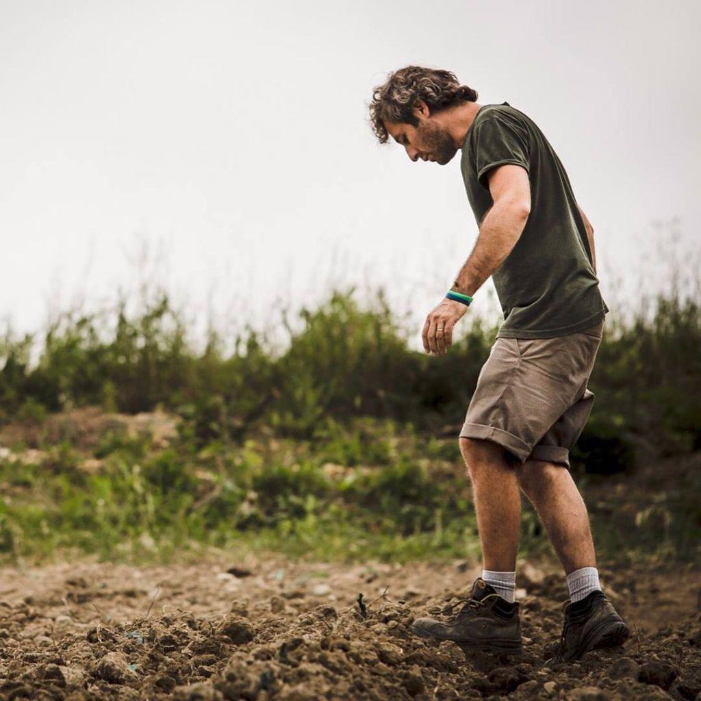 walking on the bare soil