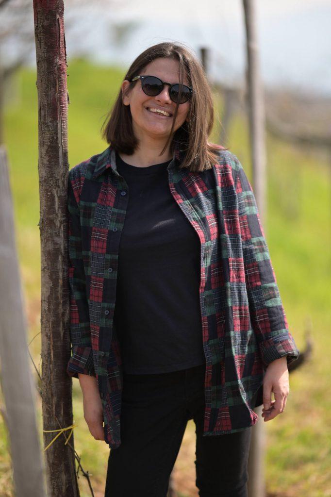 Daniela in the vineyard