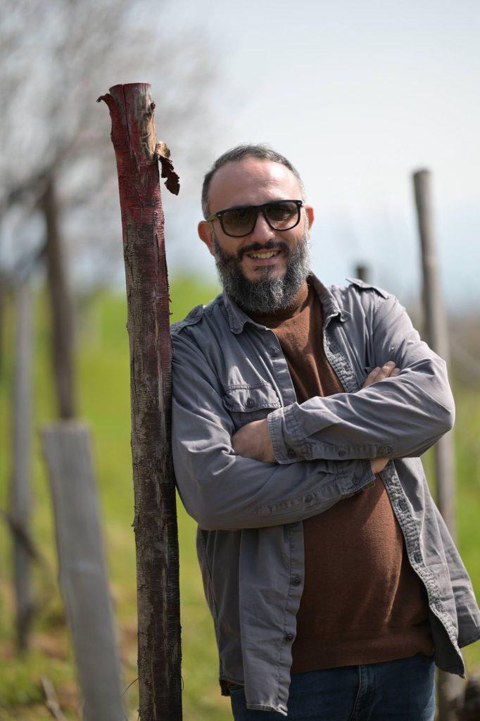 Giampiero in the vineyard